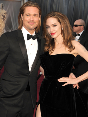 Brad and Angelina, the winemakers. (WireImage)