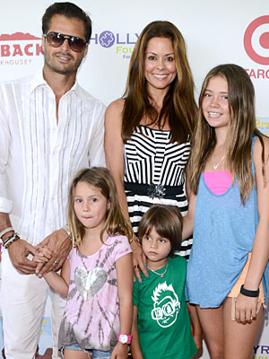 Brooke-Charvet and husband David Charvet, with some of their brood. (Araya Diaz/FilmMagic)
