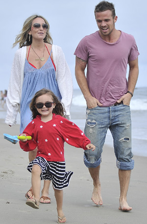 Cam Gigandet and family in 2012 (Splash News)