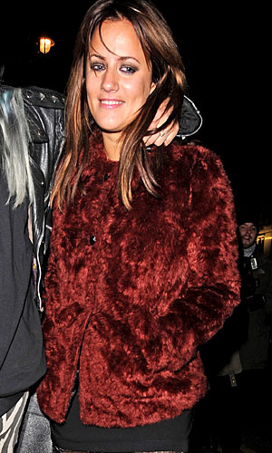 Caroline Flack exits Groucho (Splash News)