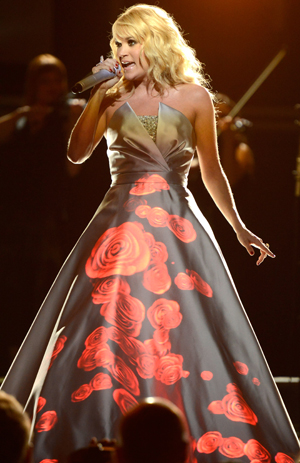 Carrie Underwood performs 'Blown Away' at the Grammys (Getty Images)