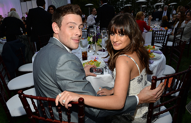 Cory Monteith and Lea Michele at the Chrysalis Butterfly Ball (Getty Images)