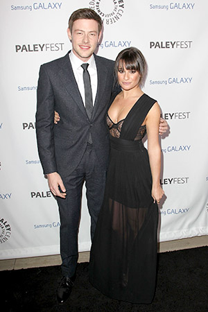 Cory Monteith and girlfriend Lea Michele at an event in February. (Getty Images)