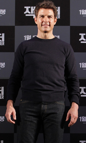 Tom Cruise in Japan on January 10 (Getty Images)