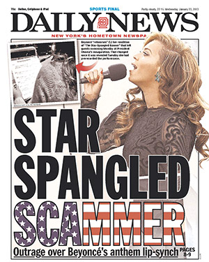 The NY Daily News slams Beyonce (NY Daily News)
