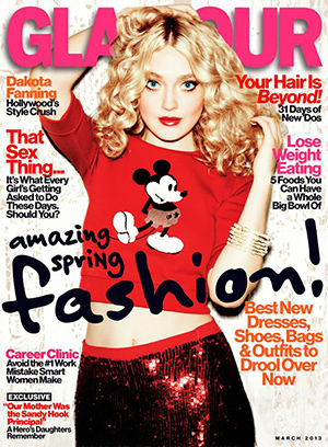 Dakota Fanning, Glamour March 2013 (Ellen von Unwerth)