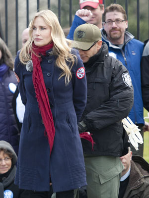 Daryl Hannah getting arrested (Leigh Vogel/Getty Images)