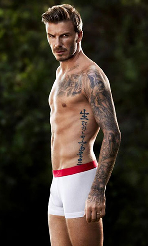 Becks in his undies (H&M)