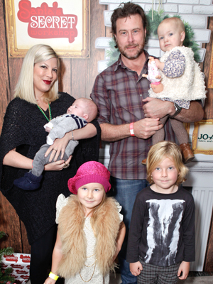Tori Spelling, Dean McDermott, and their four kids (Tiffany Rose/WireImage)