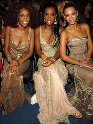 Destiny Fulfilled: Michelle, Kelly, and Beyonce. (Kevin Mazur/Getty Images)