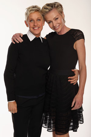 Ellen DeGeneres with Portia de Rossi (Getty Images)