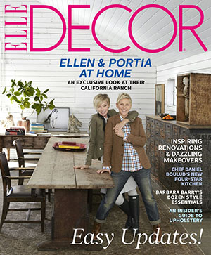 Ellen and Portia cover Elle Decor. (William Abranowicz/Elle Decor)