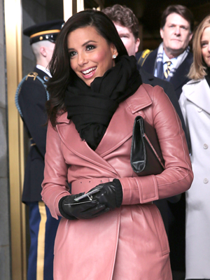 Eva Longoria arrives to President Barack Obama's Second Inauguration, January, 21, 2013 (Win McNamee/Getty Images)