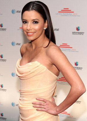 Eva Longoria at an inauguration party in January (Paul Morigi/WireImage)