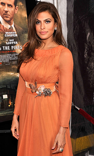Eva Mendes at the 'Pines' premiere (Stephen Lovekin/Getty Images)