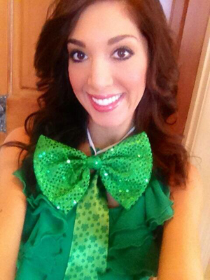 Farrah on St. Patrick's Day, just before DUI. (Twitter)