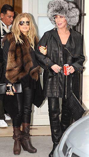 Fergie and Cher step out together in Paris (PacificCoastNews)
