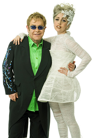 Elton John and Lady Gaga (Kevin Mazur/WireImage)