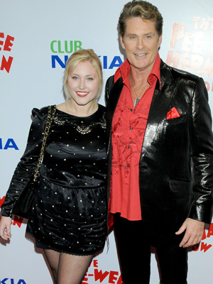 Hayley and David Hasselhoff (Gregg DeGuire/PictureGroup)