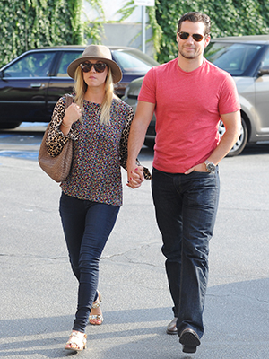 Kaley Cuoco and Henry Cavill in L.A. on July 3 (Splash News)