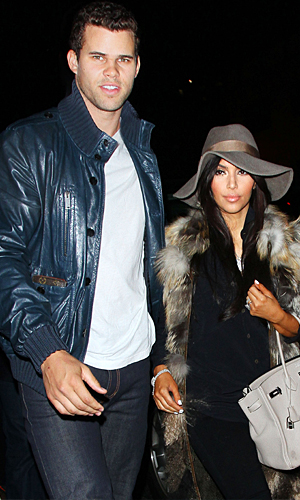 Kris Humphries and Kim Kardashian celebrate her 31st birthday in NYC on October 21, 2011 (Splash News)
