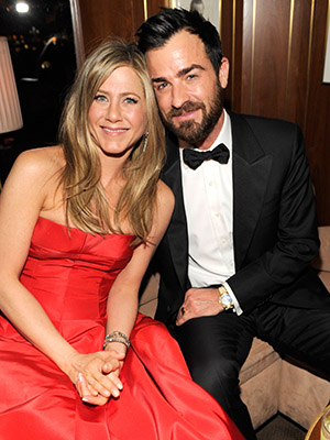 Jennifer Aniston and Justin Theroux grace Vanity Fair's Oscar party (Kevin Mazur/Wireimage)