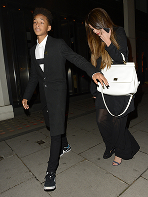 Jaden Smith and Selena Gomez in London on 5/23 (PacificCoastNews)