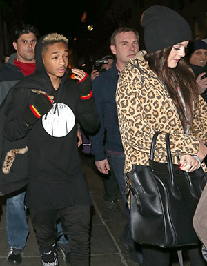 Jaden Smith and Kylie Jenner leave Nobu in London on Saturday night (Splash News)