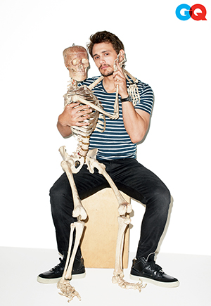 James Franco and a friend (Terry Richardson/GQ)