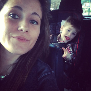 Jenelle and son Jace on Sunday. (Instagram)