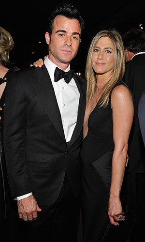 Justin Theroux and Jennifer Aniston (Getty Images)