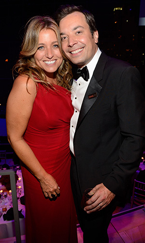 Jimmy Fallon and his wife, Nancy (Kevin Mazur/WireImage)