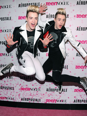 Jedward at Chloe Moretz's Sweet 16, Feb. 7, 2013 (Jamie McCarthy/WireImage)
