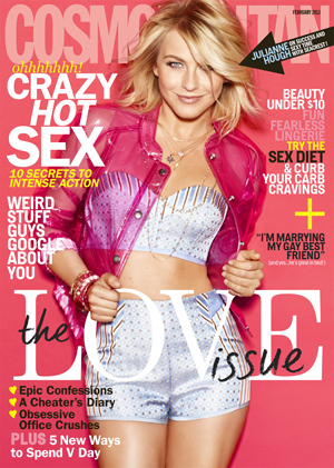 Julianne Hough on the cover of Cosmo. (Matt Jones/Cosmopolitan)