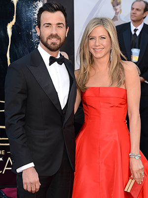 Justin Theroux and Jennifer Aniston at the Oscars (Getty Images)