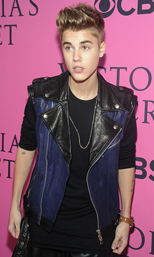 The real-life Bieber hits the red carpet. (Rabbani and Solimene Photography/WireImage)