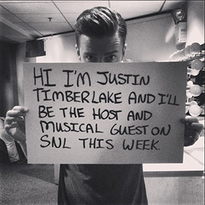 Justin Timberlake readies to host 'SNL' (Instagram)