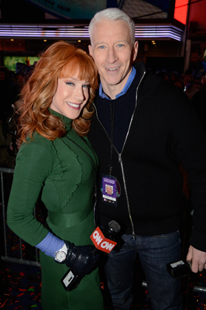 Kathy Griffin and Anderson Cooper on New Year's Eve.(Kevin Mazur/Getty Images)