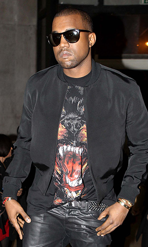 Kanye West in Givenchy (INFDaily.com)
