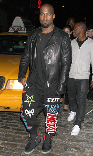 Kanye West in KTZ (GG/FAMEFLYNET PICTURES)