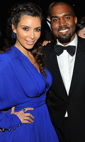 Kim and Kanye. (Getty Images)