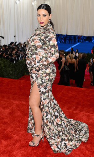 Kim Kardashian in Givenchy by Ricardo Tisci at the Met Gala. (Larry Busacca/Getty Images)
