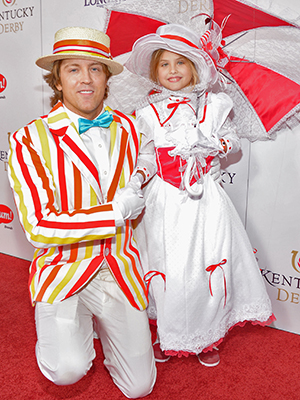 Larry Birkhead and Dannielynn at the Kentucky Derby (Getty Images)