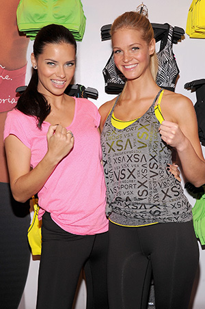 Adriana Lima and Erin Heatherton (Getty Images)