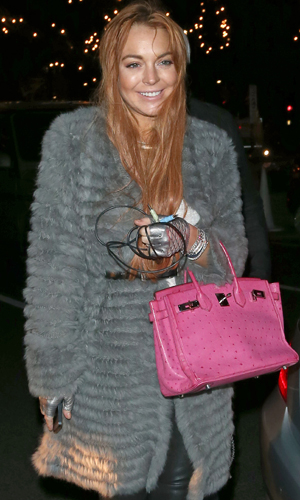 Lohan in Lodon. (Weir Photos/Splash News)