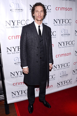 Matthew McConaughey at the New York Film Critics Circle Awards on January 7 (Getty Images)