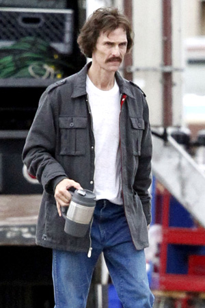McConaughey on the set of 'The Dallas Buyers Club' in November (PacificCoastNews.com)