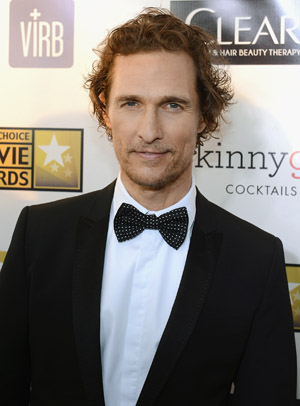 Matthew McConaughey at the Critics' Choice Movie Awards in January (Getty Images)