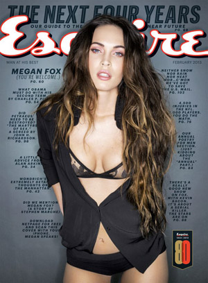 Megan Fox on the cover of the February issue. (Sante D'Orazio/Esquire)