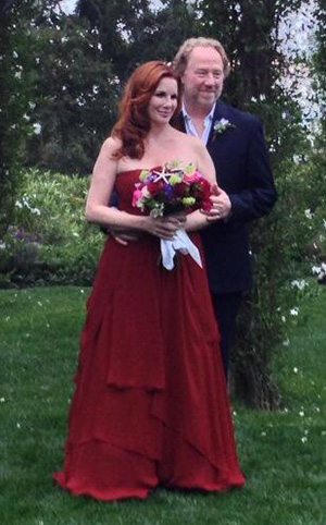 Newlyweds Melissa Gilbert and Timothy Busfield (Twitter)
